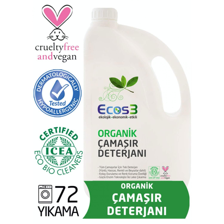 ORGANİK & VEGAN SIVI ÇAMAŞIR DETERJANI 2.5 Litre