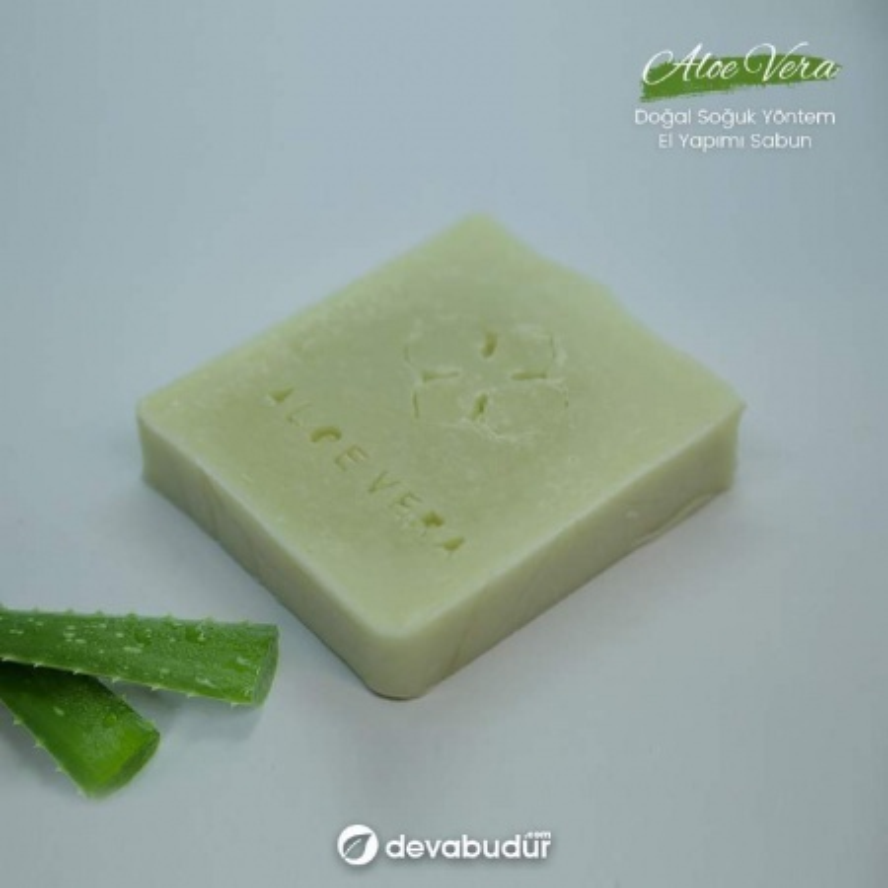%100 Doğal El Yapımı Aloe Vera Sarısabır Sabunu 120 Gr
