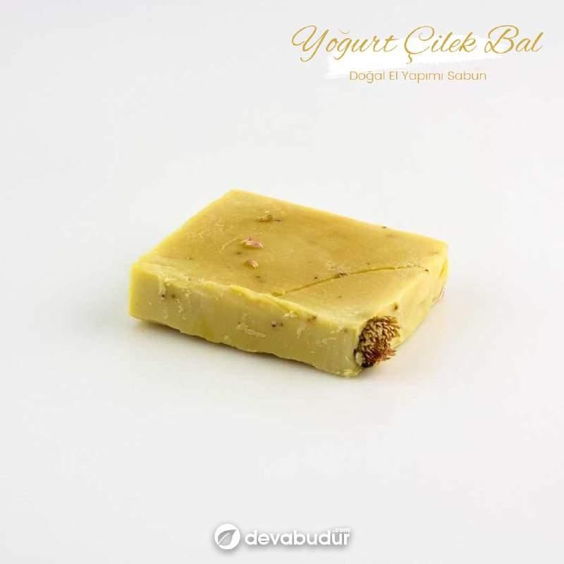 Doğal El Yapımı Yoğurt Çilek Bal Sabunu 120 Gr
