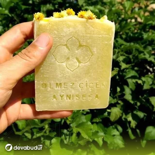 El Yapımı %100 Doğal Ölmez Çiçek Aynısefa Sabunu 120 Gr